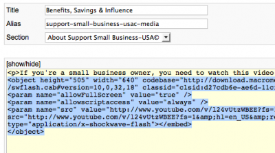 insert-html-code-joomla