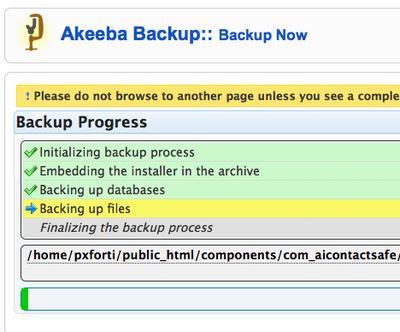 akeeba-backup-progress-screen
