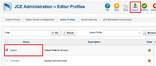 jce-profile-export