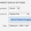 Change WordPress Default Image Alignment and Link Type