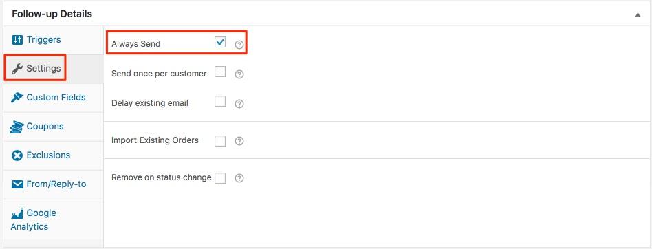 Woocommerce Custom Emails Settings