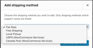 Select USPS Shipping Method