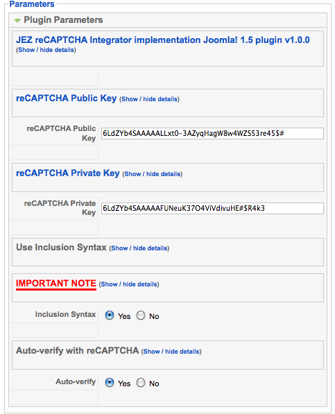 JEZ-reCAPTCHA-configuration