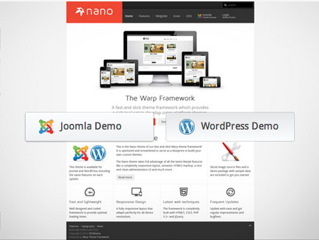 Review YooTheme Warp Framework and Templates for WordPress and Joomla