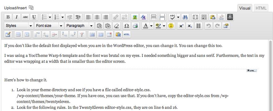 How to Change WordPress Editor Font - WriteNowDesign - Wordpress and ...