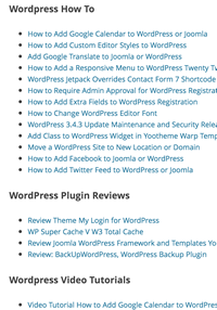 How To Create A List Of All Wordpress Categories And Posts