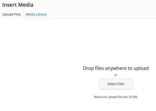 Upload Media Maximum File Upload Size