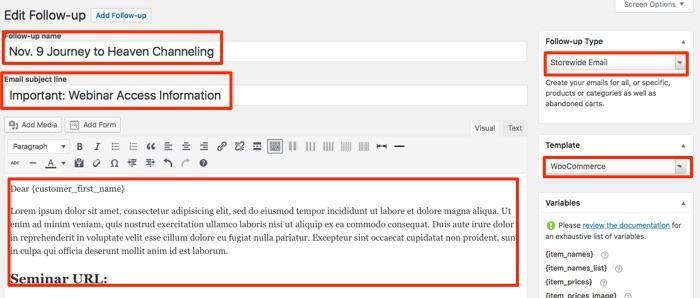 Woocommerce Follow Up Emails Setup