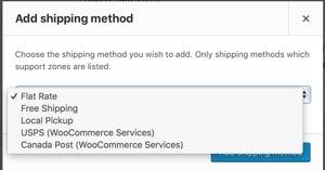 Select USPS Shipping Method