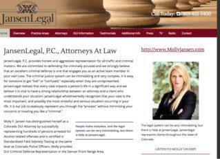 Jansen Legal Website