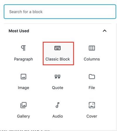 Classic Block