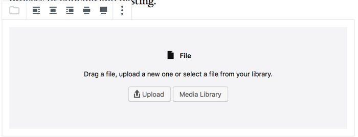 Gutenberg Choose File
